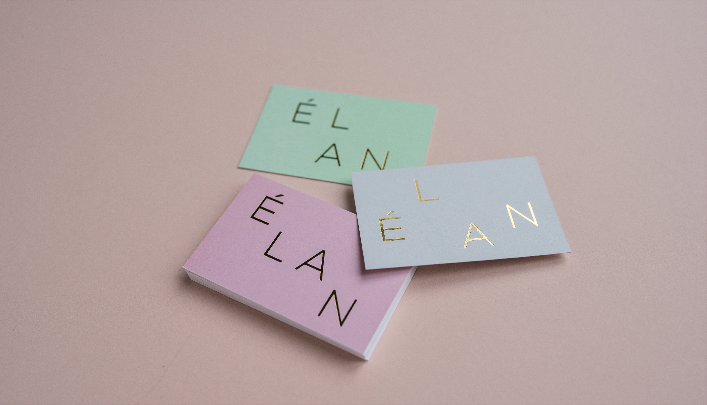 Elan gold foiled business cards