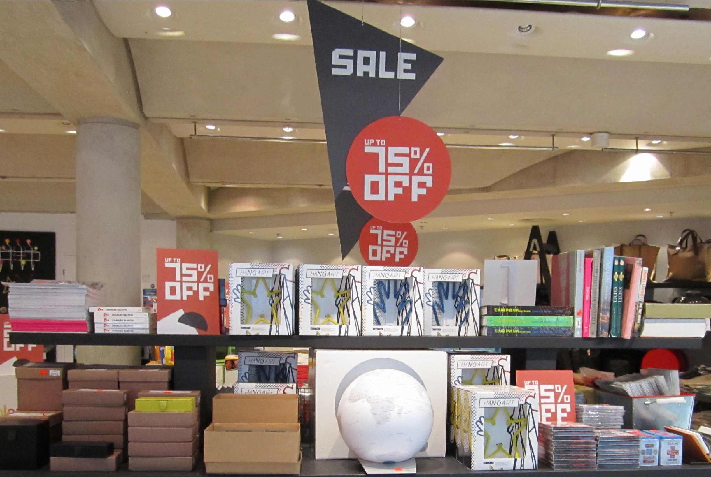 Sale signage for The Conran Shop