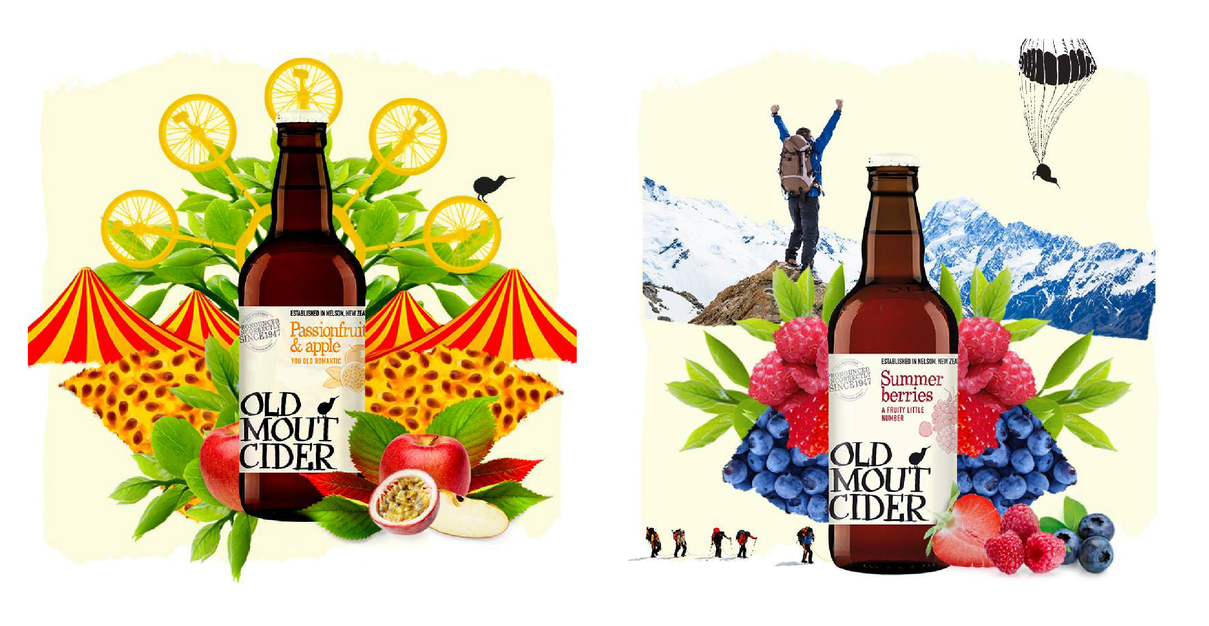 Social media collages for Old Mout Cider launch in the UK