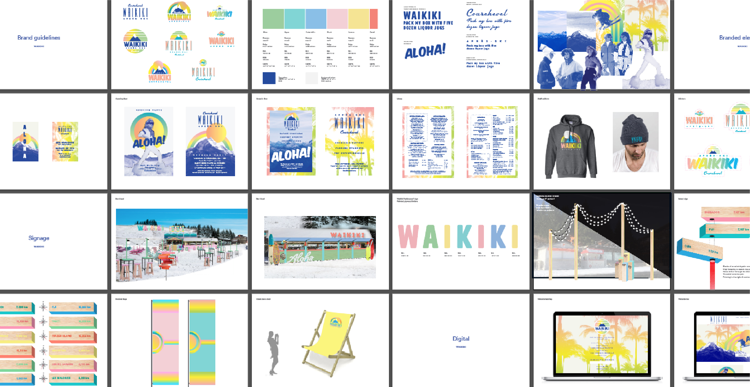 Brand guidelines for design of Waikiki Courchevel 1850