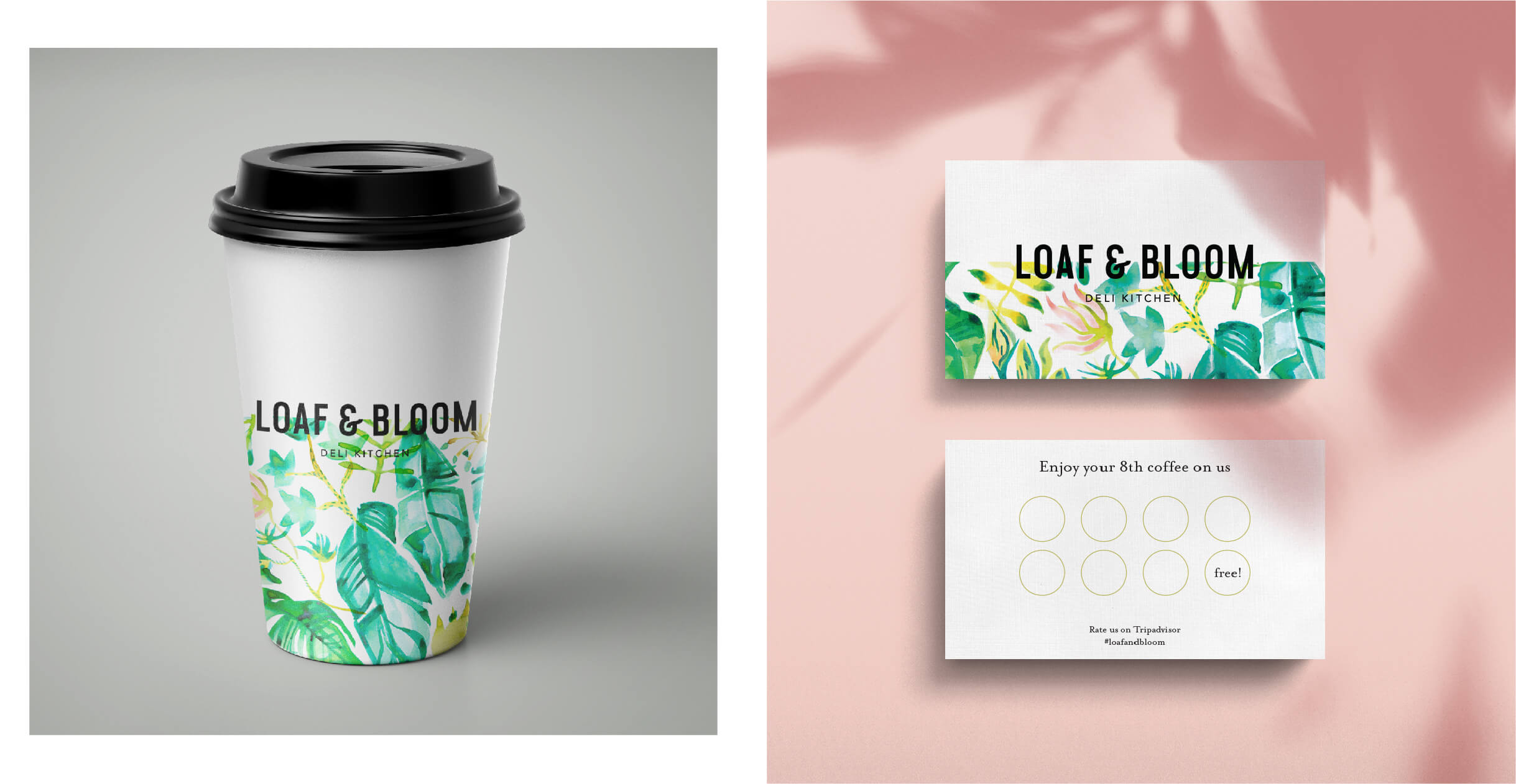 Debenhams Loaf & Bloom coffee cup and loyalty card