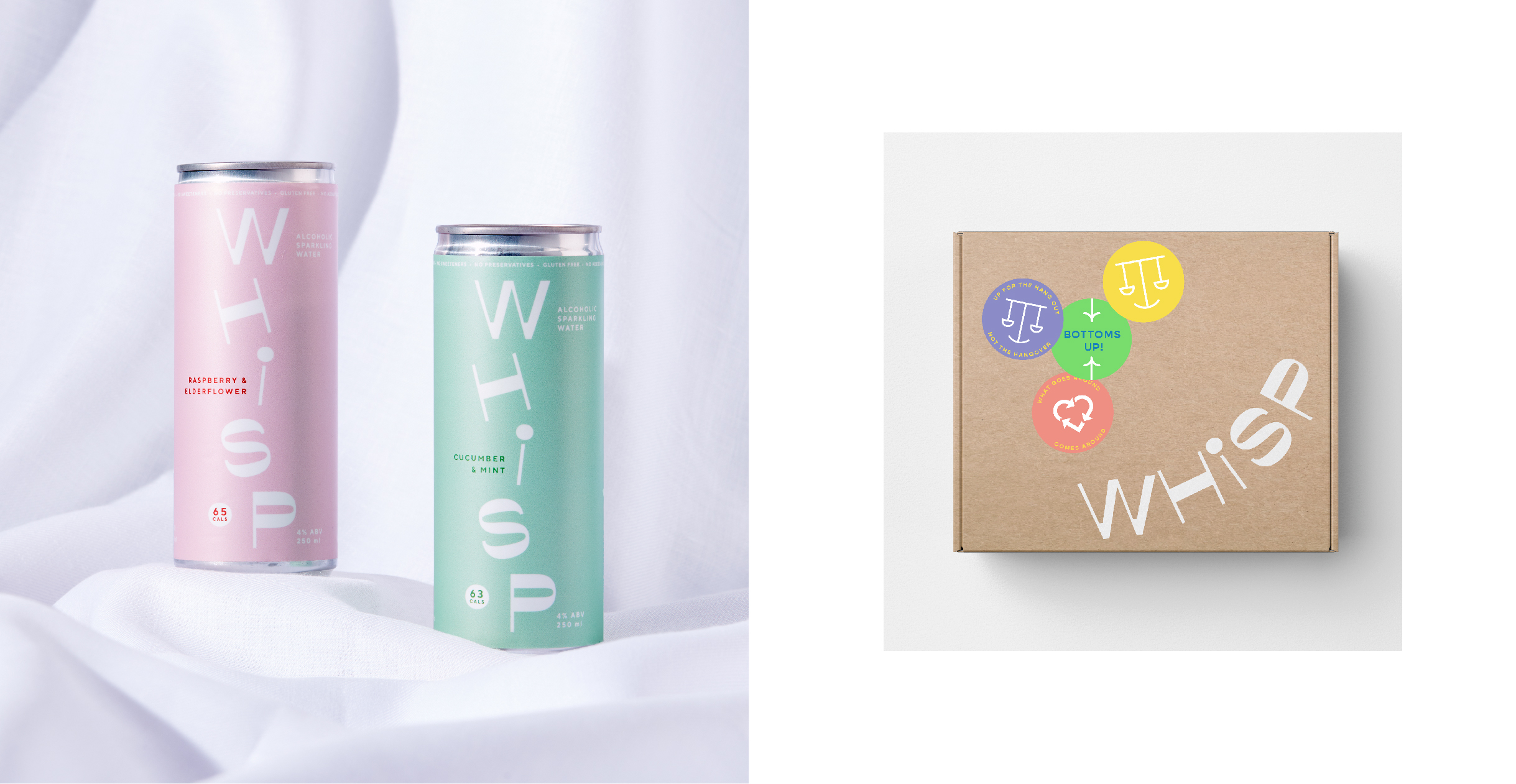 Whisp cans and packaging