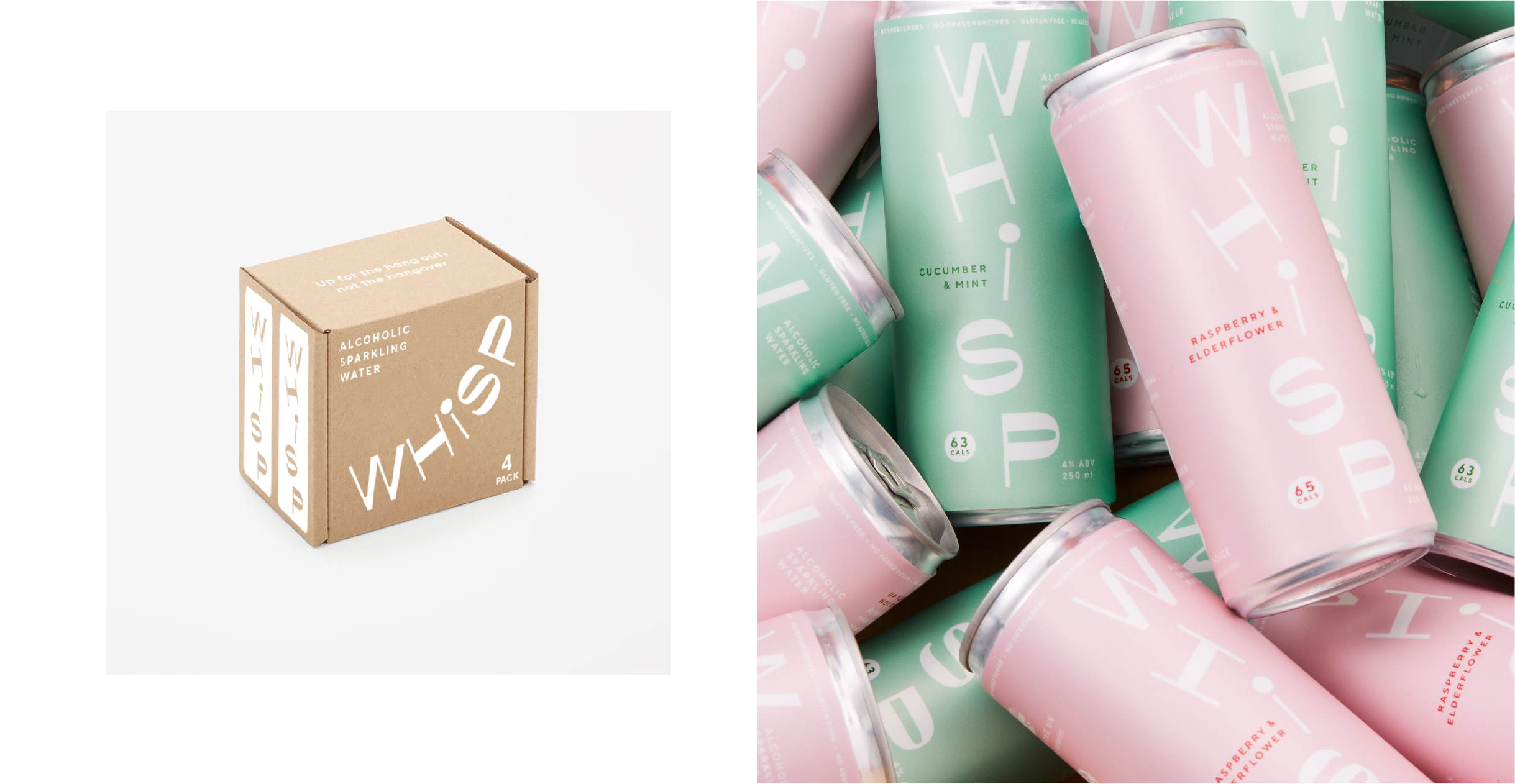 Whisp packaging - box and cans