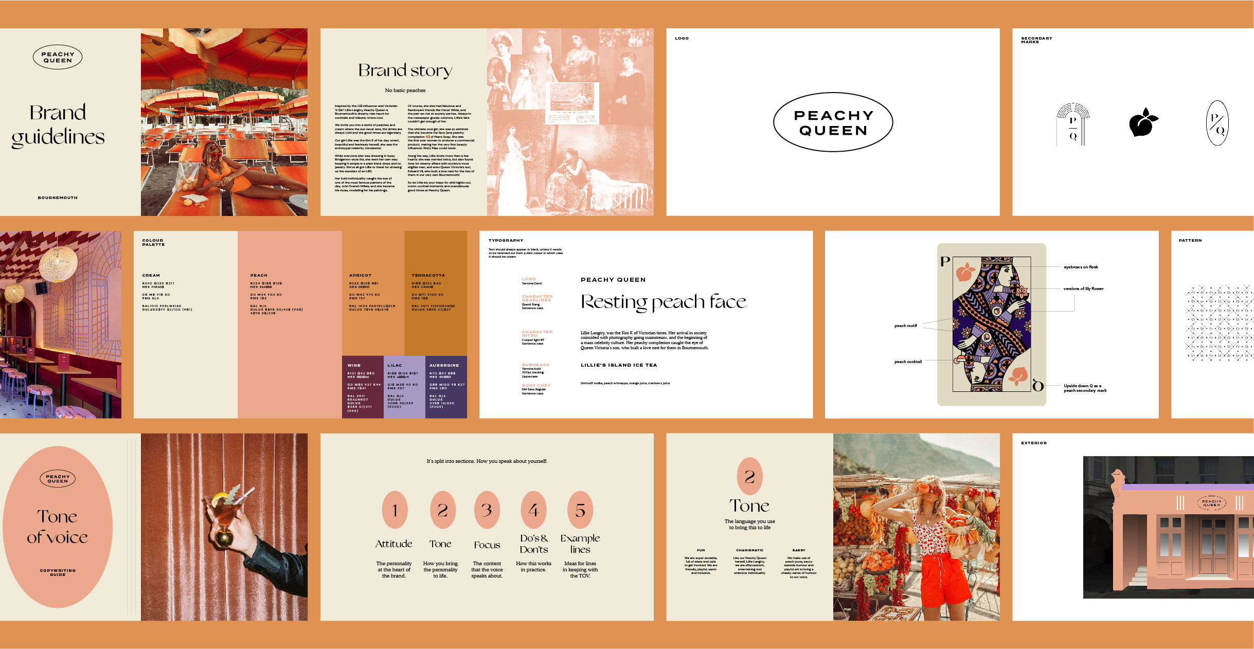 Peachy Queen brand guidelines